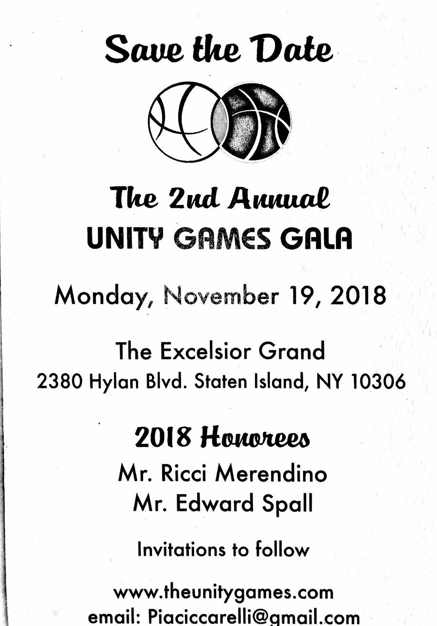 Save the Date — The 2nd Annual Unity Games Gala